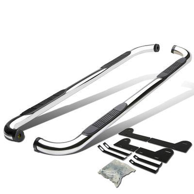 "02-08 Dodge RAM 1500 | 03-09 2500 3500 [Quad / Crew Cab] 3"" Round Side Step Bar - Polished"