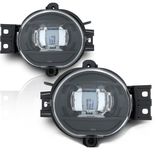 02-08 Dodge RAM LED Fog Lights - Black / Clear Lens