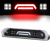 02-08 Dodge RAM Truck 3D LED Bar 3rd Third Brake Light Rear Cargo Lamp (Black / Clear)