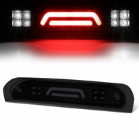 02-08 Dodge RAM Truck 3D LED Bar 3rd Third Brake Light Rear Cargo Lamp (Black / Smoked)