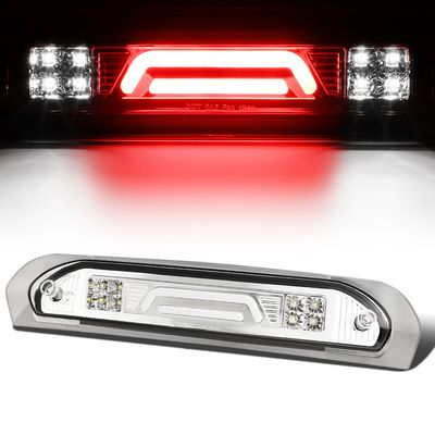 02-08 Dodge RAM Truck 3D LED Bar 3rd Third Brake Light Rear Cargo Lamp (Chrome / Clear)