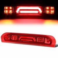 02-08 Dodge RAM Truck 3D LED Bar 3rd Third Brake Light Rear Cargo Lamp (Red / Clear)