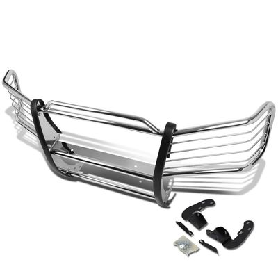 02-09 Chevy Trailblazer Front Bumper Protector Brush Grille Guard (Chrome)
