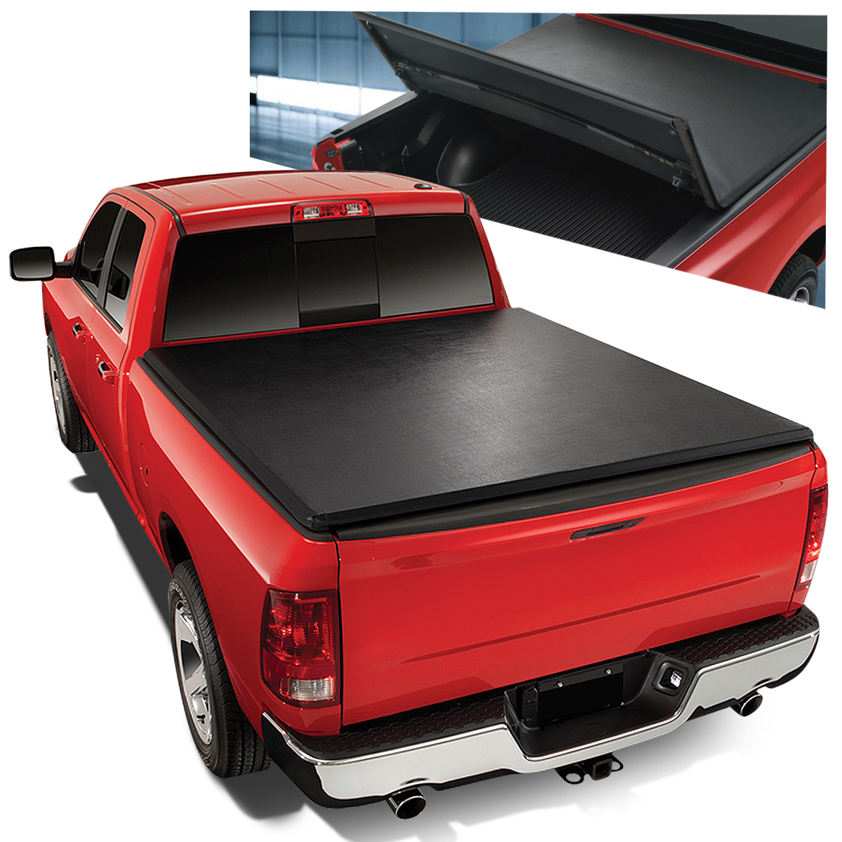 Truck Bed Accessories Tonneau Cover Soft Tri Fold For Ram 1500 2500 3500 Pickup Truck 6 5ft Short Bed Auto Parts And Vehicles