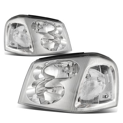 02-09 GMC Envoy Headlight Assembly (Driver & Passenger Side) - Chrome