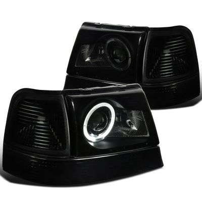 02-09 Trailblazer SMD LED DRL Smoke Projector Headlights