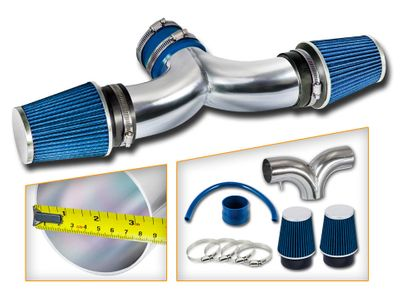 02-10 Dodge RAM 1500 Dual / Twin Short Ram Air Intake + Air Filter - Blue