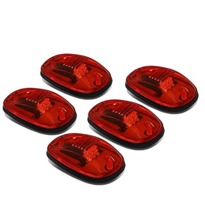 02-18 Dodge Ram 1500-5500 5 X Red Lens LED Cab RoofRunning  Clearance Lights