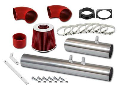 02 Ford Thunderbird 3.9L V8 Short Ram Air Intake Kit - Red