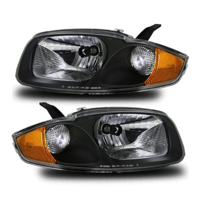 03-04 Chevy Cavalier Crystal Replacement Headlights - Black