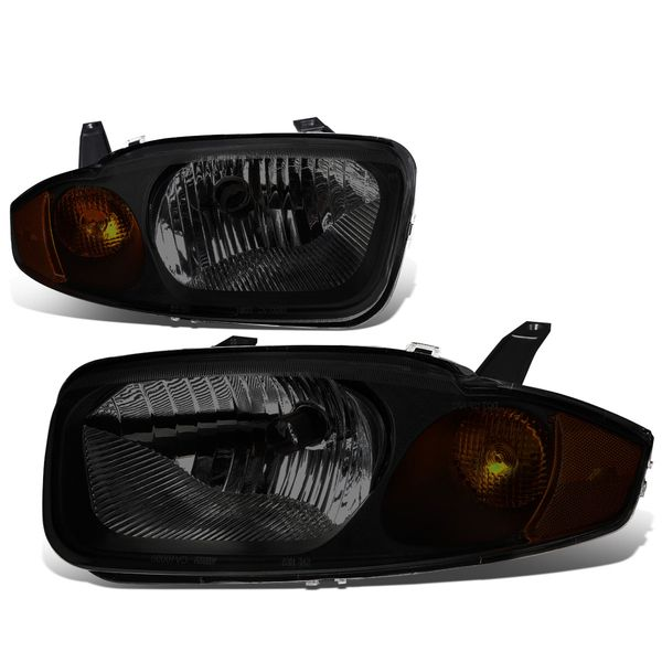 03-05 Chevy Cavalier OE-Style Replacement Headlights - Smoked / Amber