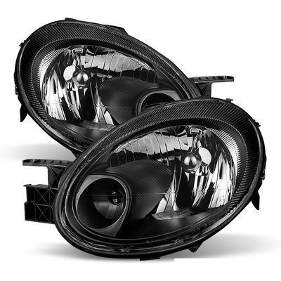 03-05 Dodge Neon OEM Style Replacement Headlights - Black
