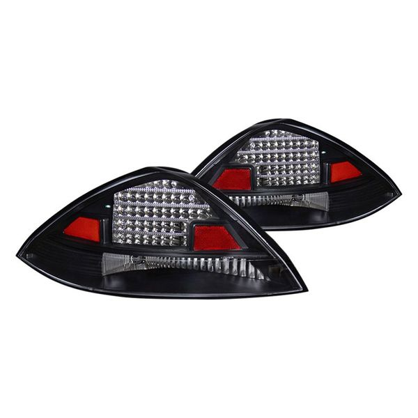 03-05 Honda Accord 2dr Coupe LED Tail Lights - Black
