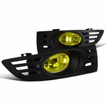 03-05 Honda Accord 2Dr Coupe Yellow Fog Lights Driving Lamps Set w/ Switch