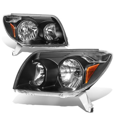 03-05 Toyota 4Runner OE-Style Replacement Headlights  - Black / Amber