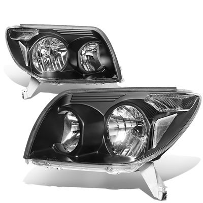 03-05 Toyota 4Runner OE-Style Replacement Headlights  - Black / Clear