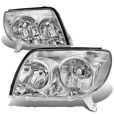 03-05 Toyota 4Runner OE-Style Replacement Headlights  - Chrome / Clear