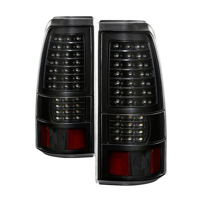 03-06 Chevy Silverado / 04-06 GMC Sierra (Non Stepside) LED Tail Lights - Black