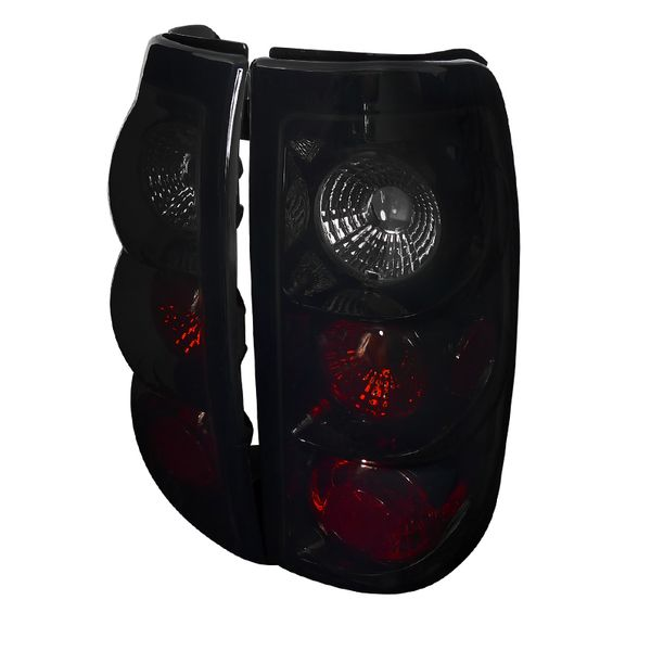 03-06 Chevy Silverado 1500 2500 3500 Euro Altezza Tail Lights - Black / Smoked