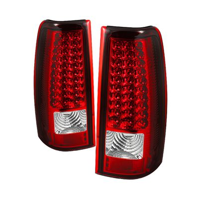 03-06 Chevy Silverado / GMC Sierra Performance Full LED Tail Lights - Red Clear