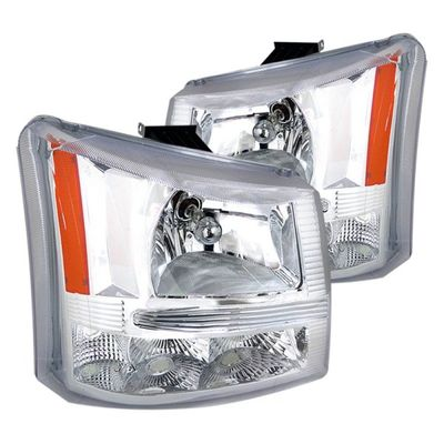 03-06 Chevy Silverado 1PC Style Crystal Headlights - Chrome