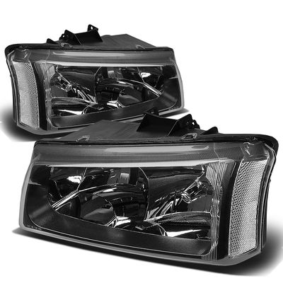 03-06 Chevy Silverado / Chevy Avalanche [W/O Body Cladding] Replace Headlights - Black Clear
