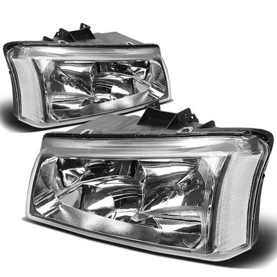 03-06 Chevy Silverado / Chevy Avalanche [W/O Body Cladding] Replace Headlights - Chrome Clear