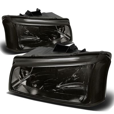 03-06 Chevy Silverado / Chevy Avalanche [W/O Body Cladding] Replace Headlights - Smoked Clear