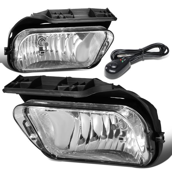 03-06 Chevy Silverado GM GMT800 Clear Lens OE-Style Fog Lights (w/ Switch & Harness)