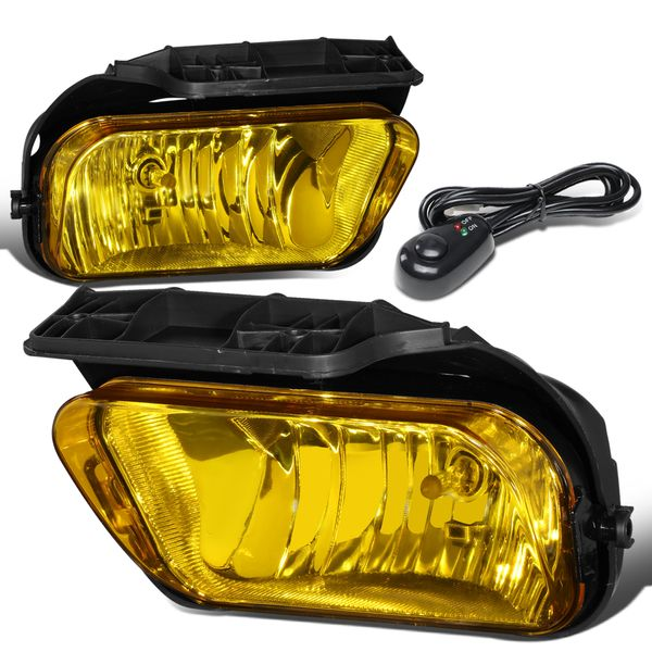 03-06 Chevy Silverado GM GMT800 Yellow Lens OE-Style Fog Lights (w/ Switch & Harness)