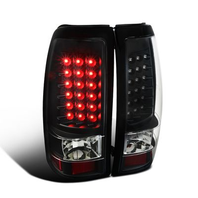 03-06 Chevy Silverado / GMC Sierra 1500 2500 LED Tail Lights - Black
