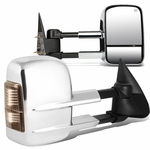 03-06 Chevy Silverado/GMC Sierra GMT800 Pair Powered + Heated Glass + Signal + Manual Folding Chrome Side Towing Mirrors
