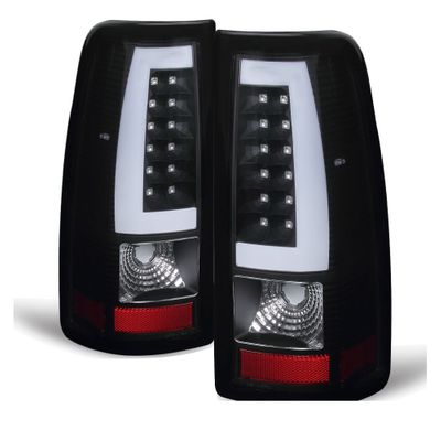 03-06 Chevy Silverado / GMC Sierra LED Tube Tail Lights - Black