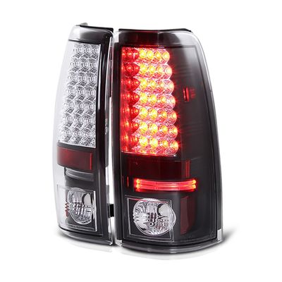 03-06 Chevy Silverado LED Euro Altezza Tail Lights - Black ALT-YD-CS03-LED-BK By Spyder
