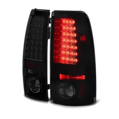 03-06 Chevy Silverado LED Euro Altezza Tail Lights - Black/ Smoked ALT-YD-CS03-LED-BSM By Spyder