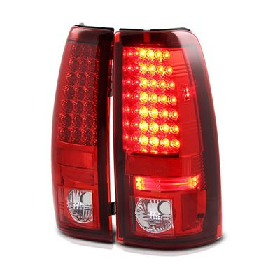 03-06 Chevy Silverado LED Euro Altezza Tail Lights - Red / Clear ALT-YD-CS03-LED-RC By Spyder