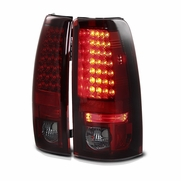 03-06 Chevy Silverado LED Euro Altezza Tail Lights - Red / Smoked ALT-YD-CS03-LED-RS By Spyder