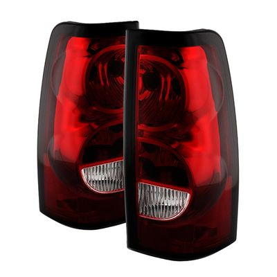 03-06 Chevy Silverado OEM Style Replacement Tail Lights - Red Clear