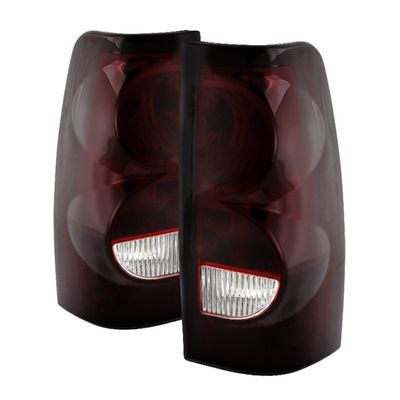 03-06 Chevy Silverado OEM Style Replacement Tail Lights - Red Smoked