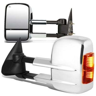 03-06 Chevy Silverado Pickup Power / Telescoping / Heated Tow Mirrors - Chrome