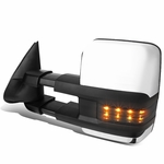 03-06 Chevy Tahoe/GMC Yukon Powered+Heated+Smoked Chrome LED Turn Signal Towing Side Mirror (Left/Driver)