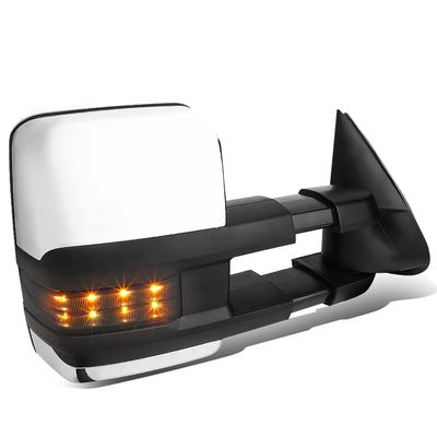 03-06 Chevy Tahoe/GMC Yukon Powered+Heated+Smoked Chrome LED Turn Signal Towing Side Mirror (Right/Passenger)