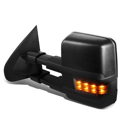 03-06 Chevy Tahoe/GMC Yukon Powered+Heated+Smoked LED Turn Signal Towing Side Mirror (Left/Driver)