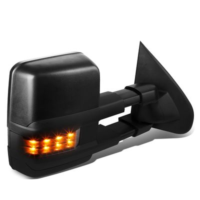 03-06 Chevy Tahoe/GMC Yukon Powered+Heated+Smoked LED Turn Signal Towing Side Mirror (Right/Passenger)
