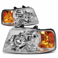 03-06 Ford Expedition Replacement Set Headlights - Chrome