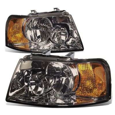03-06 Ford Expedition Replacement Set Headlights - Smoked