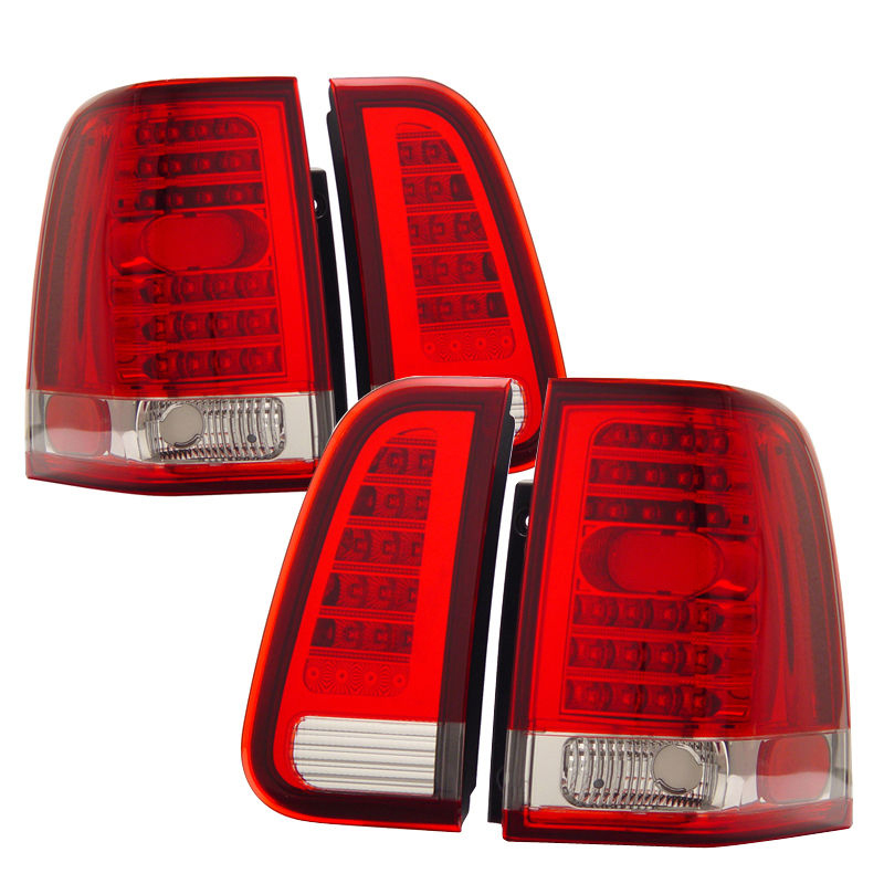 03 06 Lincoln Navigator Led Tail Lights Red Clear