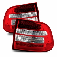 03-06 Porsche Cayenne Euro Style LED Red Clear Tail Lights