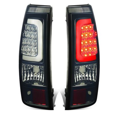 03-06 Silverado/Sierra Fleetside Pair of 3D LED Bar Tail Brake Lights (Chrome Housing Smoked Lens)