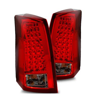 03-07 Cadillac CTS Euro Style LED Tail Lights - Red / Smoked (03-CCT03TLEDRS)